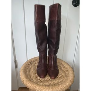 Diesel Oxblood Leather Boots